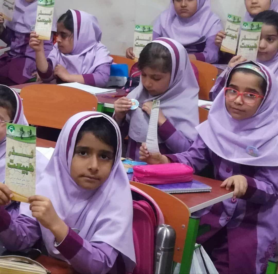 اهدای پیکسل های حامی طبیعت به دانش آموزان شیرازی