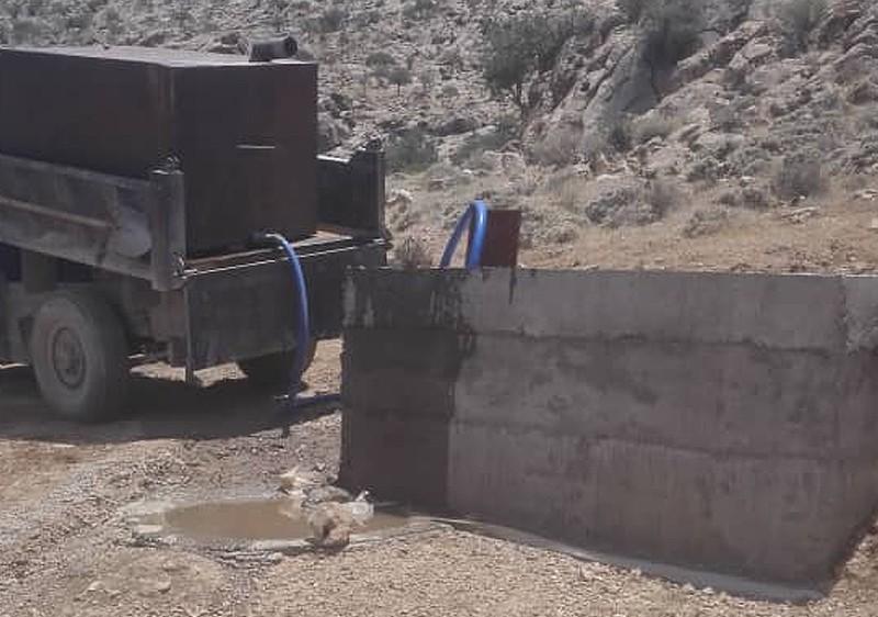 ساخت آبشخور در پناهگاه حیات وحش کوه سیاه ارسنجان