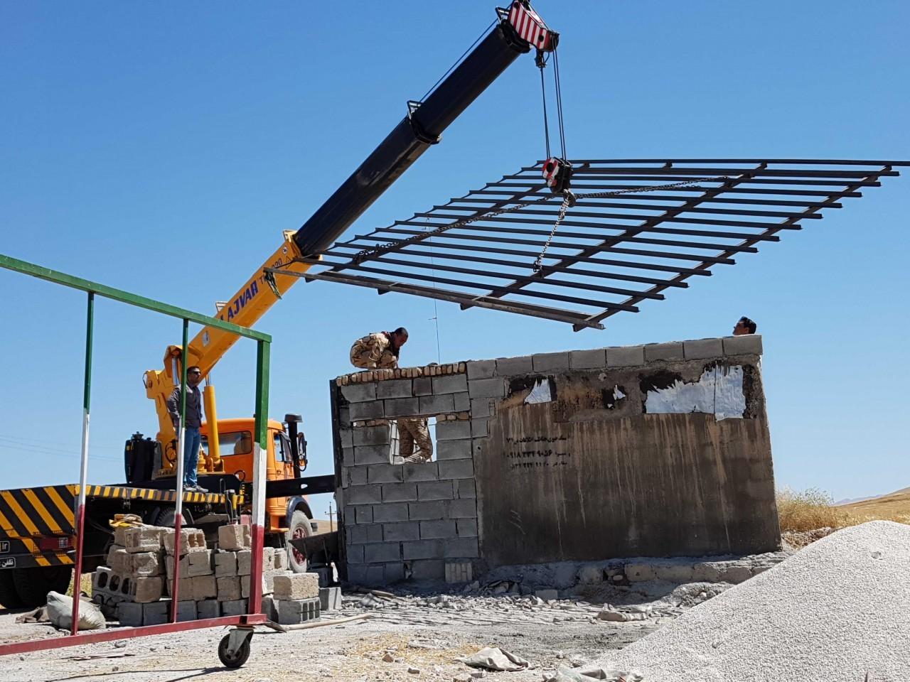 ساخت ایست بازرسی در منطقه قراویز جهت حفاظت از آهوها