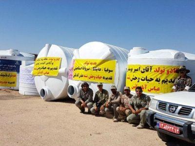 4 مخزن آب برای عباس آباد نایین